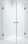 Duschbyggarna Brusehjørne Twin Design 700 x 900 Beslag Kobber