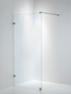 Duschbyggarna Design Skærmvæg 890 Beslag Krom Klart Glas