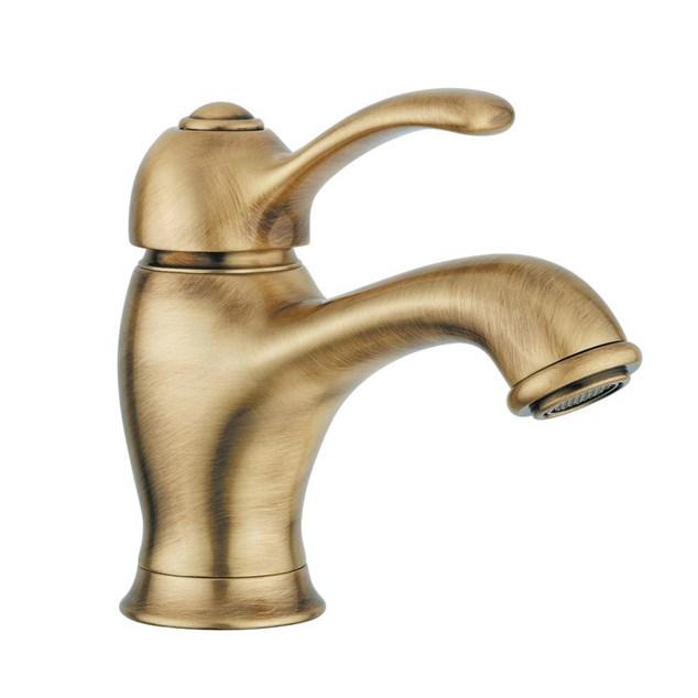 Duschbyggarna L.E.M Håndvaskarmatur Bronze uden løft-op