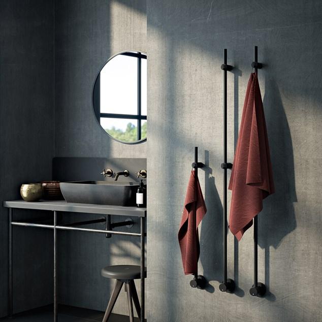 Nordhem Kaknäs Håndklædetørrer 900 x 90 mm Sort Mat