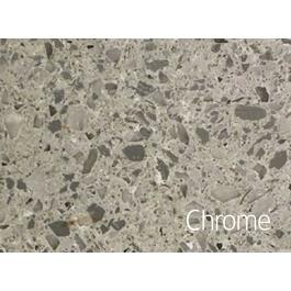 Hafa Edge Bordplade 1210X462X12 h hul Chrome Suede