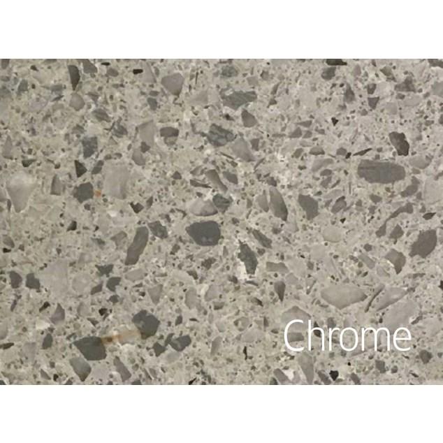 Hafa Edge Bordplade 1610X462X12 v hul chrome Suede