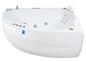 Neptun Rubin Duo Højre model Komfortpakke - Massagebadekar