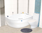 Neptun Rubin Singel Venstre Model Komfortpakke - Massagebadekar
