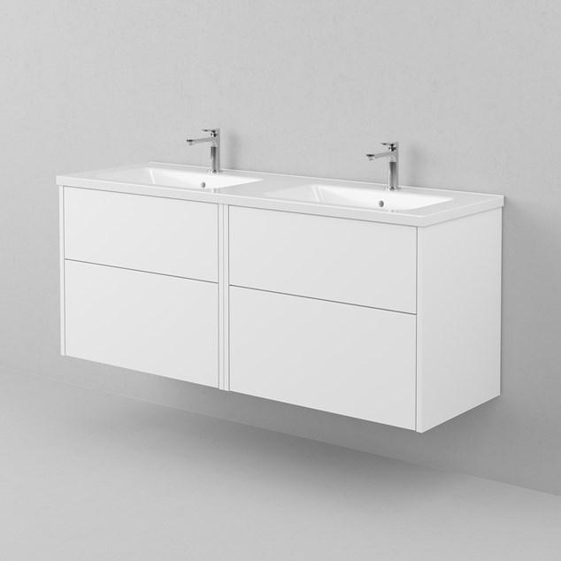 INR Håndvask GRAND 140 D Hvidt Porcelæn 1410x30x460 mm