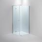 Brusehjørne INR SYNC 12 Klar Glas Profil Blank 900H 900V Greb Cirkel Blankpoleret