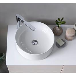 INR Håndvask AIR Runt Hvidt Porcelæn Ø400 x 135 mm BxH