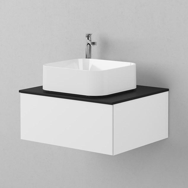 INR Håndvask AIR Semirunt Hvidt Porcelæn 400x135x400 mm