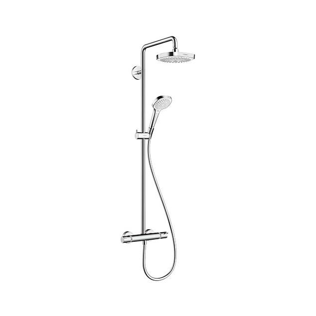 Loftbrusesæt Hansgrohe Croma Select E 180 Showerpipe Krom/Hvid