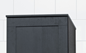 Svedbergs Topplade Højskab Forma 40x35 Sort Eg