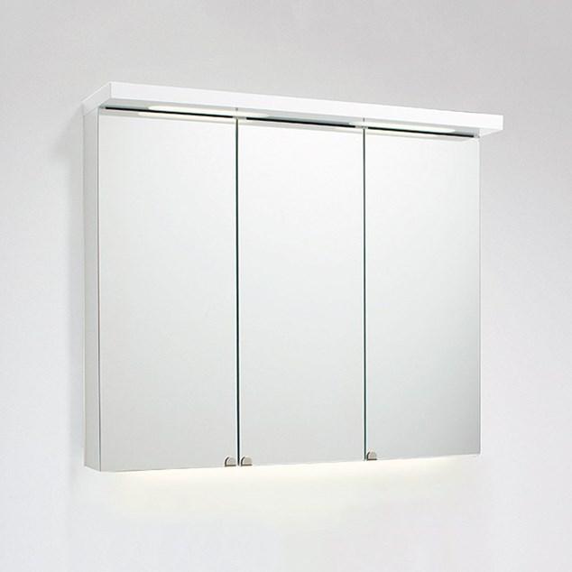 Svedbergs Spejlskab Top-Line 120 Hvid LED med Jordfejlsafbryder