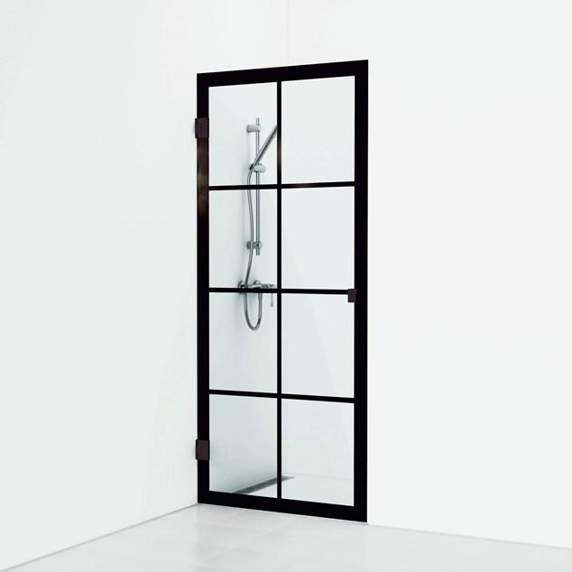 Svedbergs 180° Rista Lige 78 Sort Mat/Klart Enkel - Skærmvæg