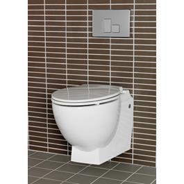 Hafa Relax U Toilet Væghængt Inkl Toiletsæde Sort