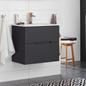 Hafa Sun Skab med Håndvask 900 Compact Sort Eg
