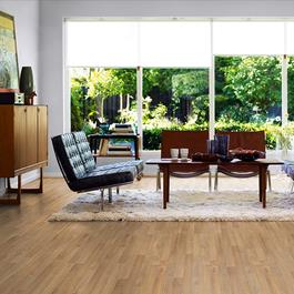 Laminatgulv Pergo Classic Plank 3-stavs Natural Oak - Eg Natur Public Extreme
