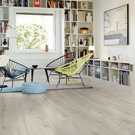 Laminatgulv Pergo Elegant Plank Rustic Grey Oak 1-stav Living Expression