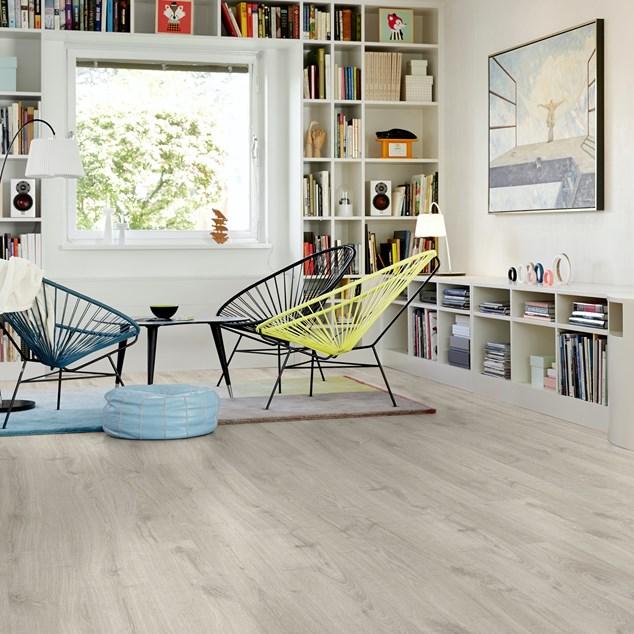 Laminatgulv Pergo Elegant Plank Rustik Grå Eg 1-stav Living Expression