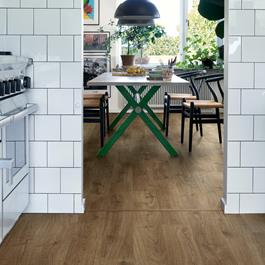 Laminatgulv Pergo Elegant Plank Brown Valley Oak 1-stav Living Expression