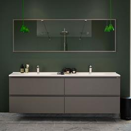 Vedum Underskab Flow 2000 Beton Grå inkl.Håndvask