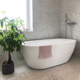 Bathlife Badekar Ideal Oval - Hvidt 1600 mm