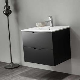 Vaskeskab Bathlife Glädje Sort inkl.vask