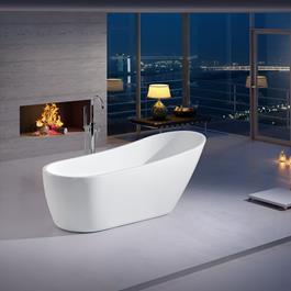 Bathlife Badekar Ideal Design Fritstående - Hvidt 1680 mm