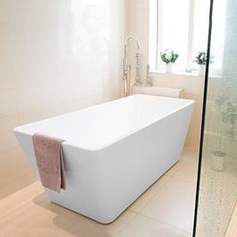 Bathlife Badekar Ideal Fritstående lige design - Hvidt