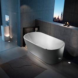 Bathlife Badekar Ideal Fritstående Rundt - Hvidt