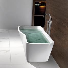 Bathlife Badekar Tycke Fritstående - Hvidt 1700 mm