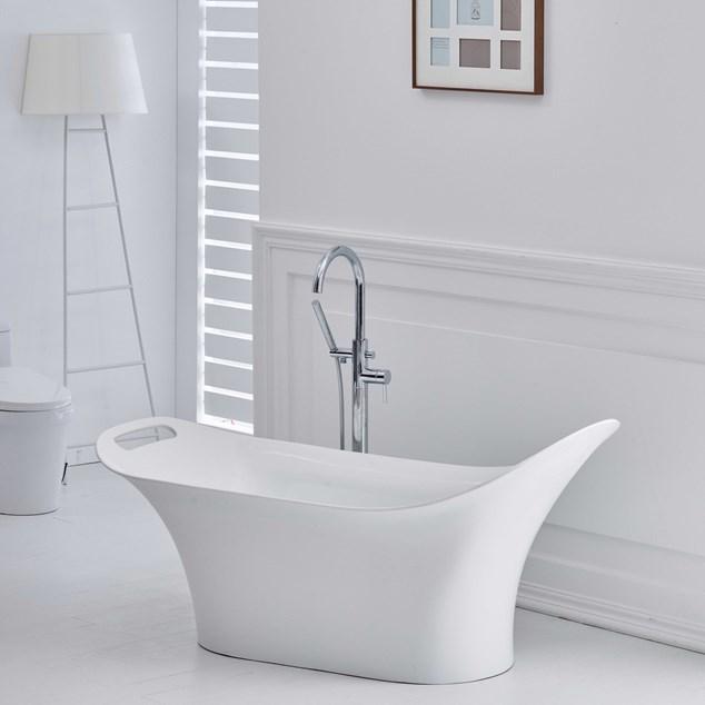 Bathlife Badekar Sinnesro Fritstående - Hvidt 1600 mm