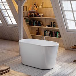 Bathlife Sidebadekar Ideal Fritstående - Hvid