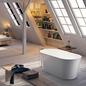 Bathlife Badekar Ideal Retro Fritstående - Hvid 1590 mm