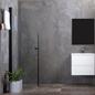 Bathlife Brusedør Mångsidig 45° Rund Sort Profil - Klart Glas