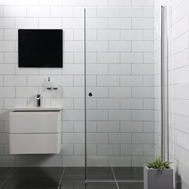 Bathlife Brusedør Mångsidig Rak - Klart Glas