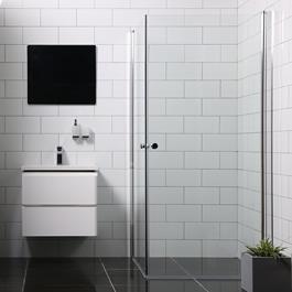 Bathlife Brusehjørne Mångsidig Rak Klart Glas