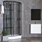 Bathlife Brusekabine Betrakta 90x90 Elegant A/W Klart Glas -Sort Hvid