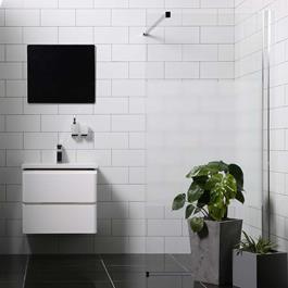 Bathlife Brusevæg Mångsidig Rak - Lige Væg Delvist Frostet Glas