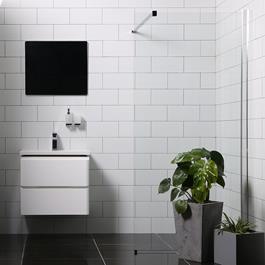 Bathlife Brusevæg Mångsidig Rak - Lige Væg Klart Glas