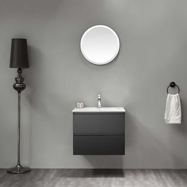 Bathlife Møbelpakke Eufori inkl Vask og Spejl - Sort
