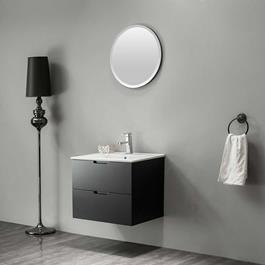 Bathlife Møbelpakke Glädje 600 inkl. Vask og Spejl - Sort