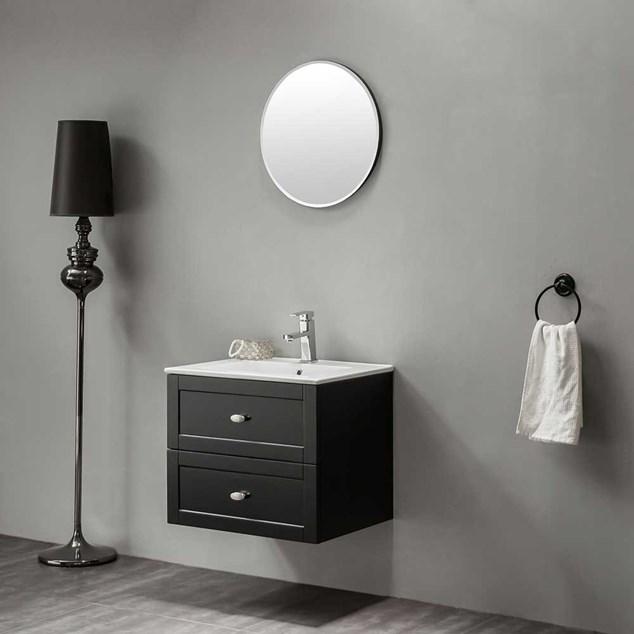 Bathlife Møbelpakke Salig inkl. Vask og Spejl - Sort