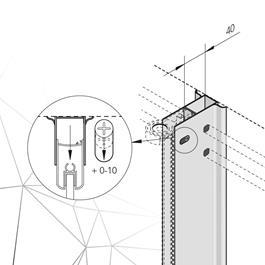 Bathlife Udvidelsesprofil  m Rørgennemføring Mångsidig - Sort Aluminium