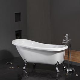 Bathlife Potebadekar Ideal m Løvefødder - Hvidt/Krom