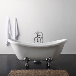 Bathlife Badekar Ideal Like med Løvefødder- Hvidt