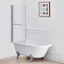 Bathlife Badekar Klöv med Løvefødder og Badekarsvæg Behag