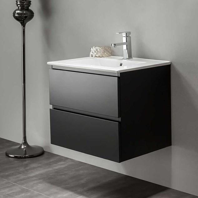 Vaskeskab Bathlife Eufori Sort inkl. vask