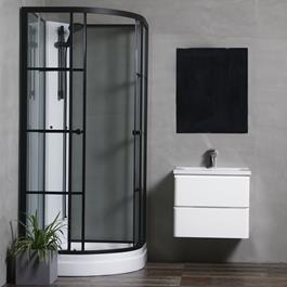 Bathlife Brusekabine Betrakta 80x80 Sortt/Hvid