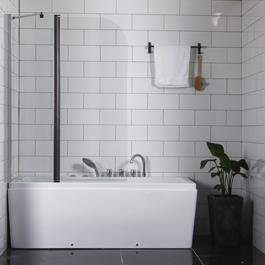 Badekarsvæg Bathlife Skåda - Klart Glas