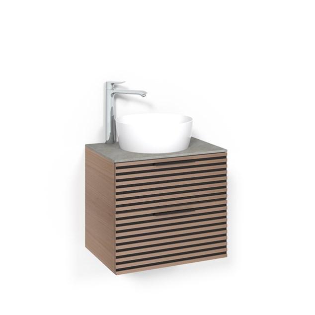 Macro Design Vaskeskab Crown Stripe Fritstående Håndvask