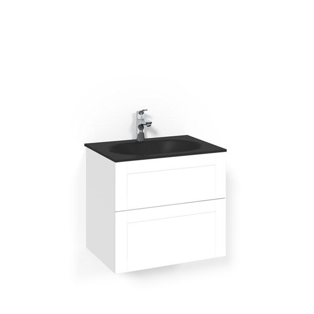 Macro Design Vaskeskab Crown Frame Med Håndvask i Glas